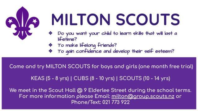 MILTON SCOUTS