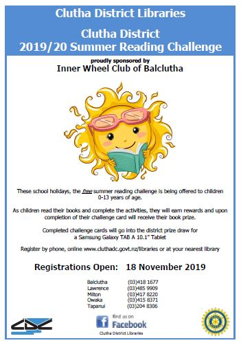 2019-20 CDL CD Summer Reading Challenge Preschool & Children Poster